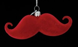 "4"" Noble Gems Glass with Handle Bar Mustache Christmas Ornament - $13.74"