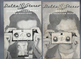 VINTAGE DELTA STEREO CAMERA INSTRUCTION BOOK & FLASH ATTACHMENT INSTRUCT... - $28.01