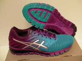 Asics women's running shoes gel quantum 180 2 blue jewel silver size 10  - $118.75
