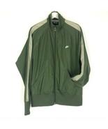 Nike Sportswear Full Zip Track Jacket Coat Olive Green Gray Stripe Mens ... - $49.95
