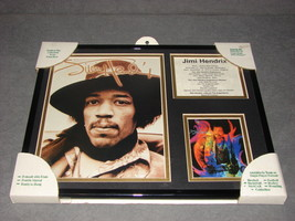 Front Row Collectibles: Jimi Hendrix Framed & Matted Memorabilia Art 11x... - $18.00