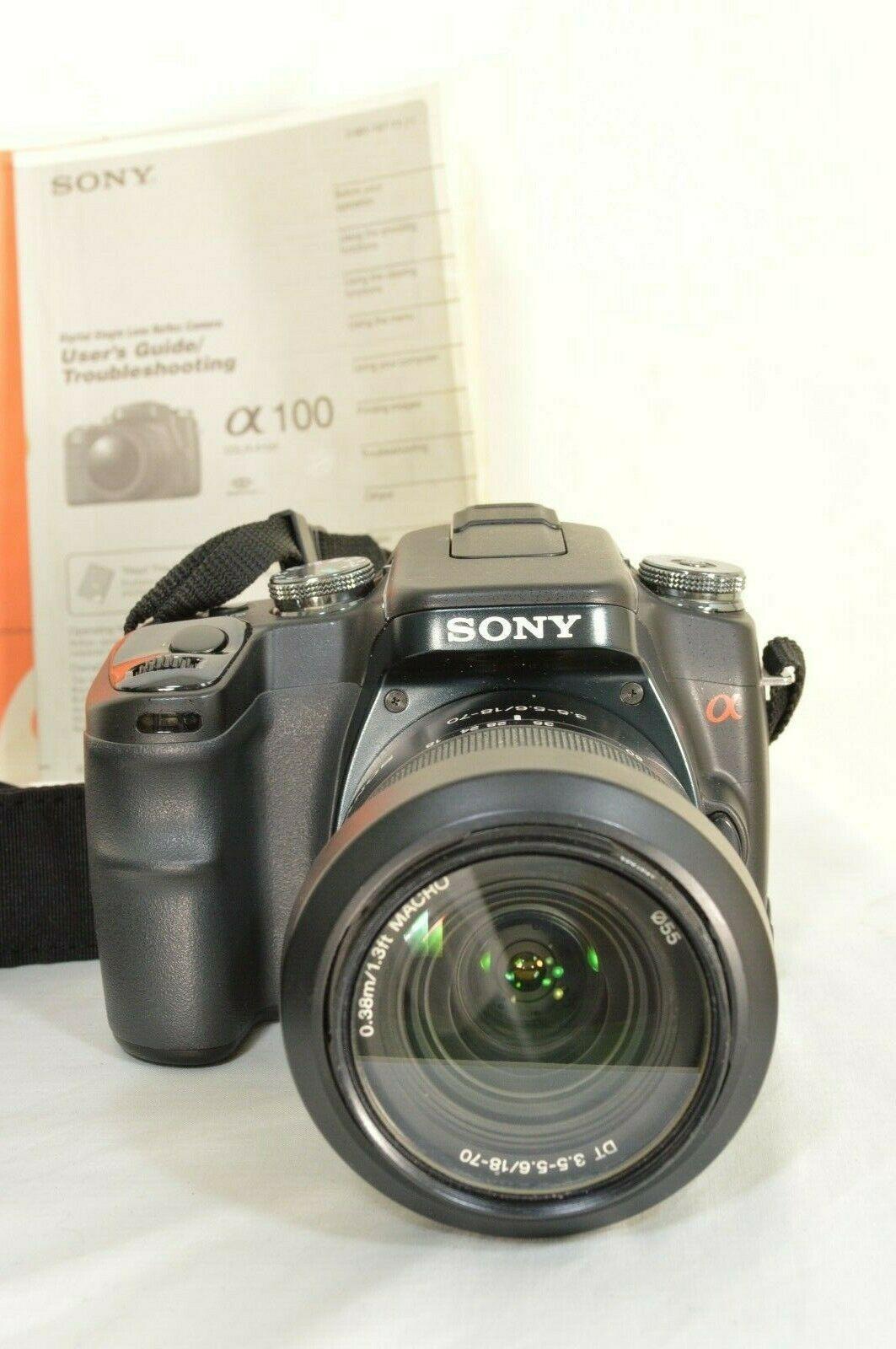 Sony Alpha a100 10.2MP Digital SLR Camera - Black (Kit w/ DT 18-70mm Lens) image 3