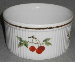 "Royal Worcester EVESHAM GOLD PATTERN 7"" Souffle Bowl MADE IN ENGLAND - $31.67"