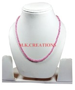 """Pink Coated Crystal 3-4mm Rondelle Faceted Beads 24"""" Long Beaded Necklace - $21.96"""
