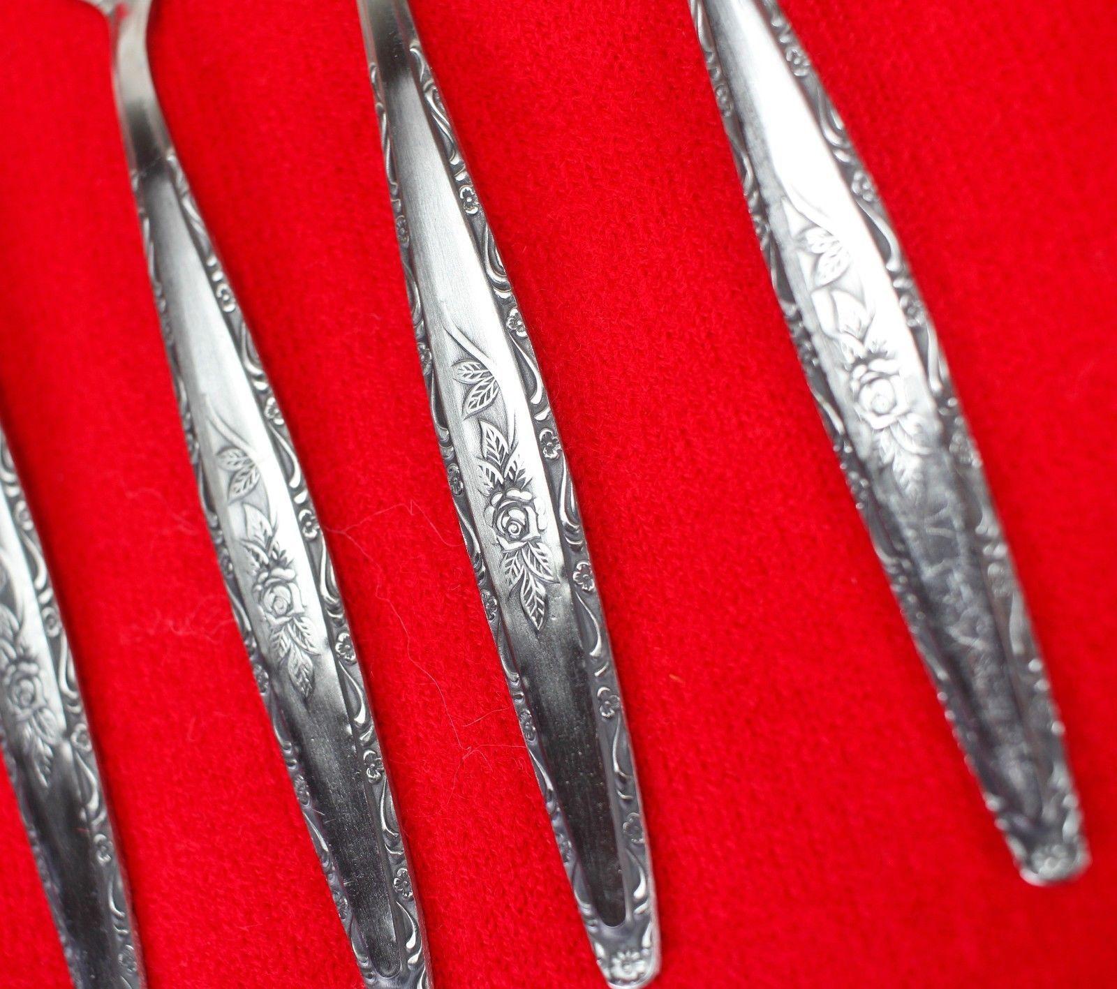 """4X Salad / Dessert Forks Stylecraft SYF2 Stainless Satin Flatware 6 3/8"""" Fork"""