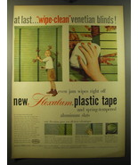 1950 Hunter Douglas Flexalum Ad - At last.. Wipe-clean venetian blinds! - $14.99
