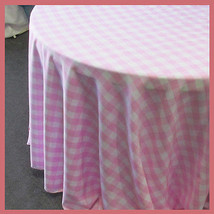 Round 132 inches Tablecloth Checker Polyester B... - $45.82