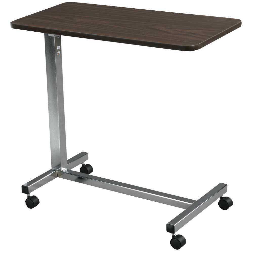 Drive Medical Non Tilt Top Overbed Table Chrome