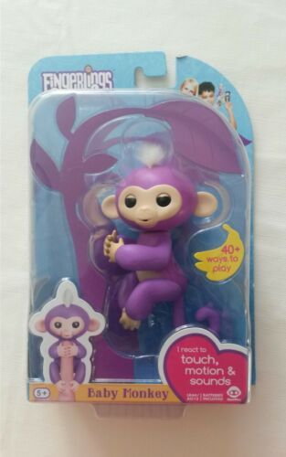 AUTHENTIC Purple MIA ~ FINGERLINGS Interactive Pet Baby Monkey ~ WowWee NEW 2017