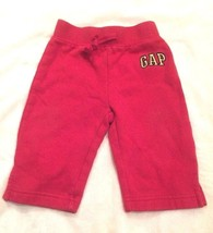 Baby GAP Baby Boys Pants Bottoms  6-12 Months Red Drawstring Waist - $7.59