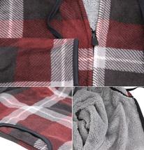 Men's Casual Flannel Zip Up Fleece Lined Plaid Sherpa Hoodie Lightweight Jacket image 4