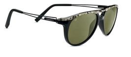 Serengeti Udine 7760 Sunglasses - Shiny Marble Cut Black / Polarized 555NM - $124.95