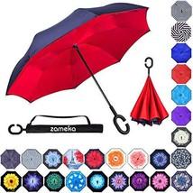 Zameka Double Layer Inverted Umbrellas Reverse Folding Umbrella Windproo... - $18.98