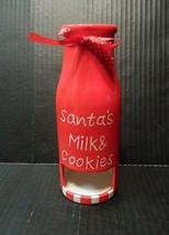"Santas Milk Cookies Bottle Jug 7"" Christmas Xmas Holiday Pocket Slot Decor - $11.05"