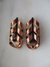 Vintage Renoir Copper Clip On Earrings - $10.00
