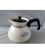Corning Ware Vintage Teiera Caffettiera Caraffa 6 Cup P-104 Blu Fiordaliso - $81.98
