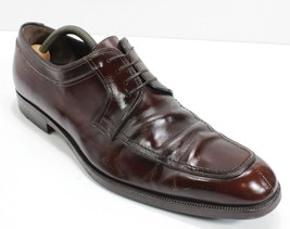 Salvatore Ferragamo Brown Leather Split Toe Oxford Dress Shoes Mens 9 D POLISHED - $77.22