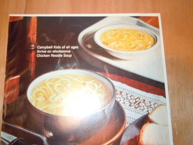 Vintage Campbell's Chicken Noodle Soup Print Magazine Advertisement 1965 image 3
