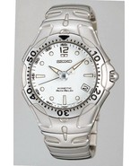 Seiko mens watches kinetic auto relay stainless steel bracelet and case SMA001 - $445.50