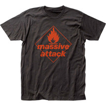 Massive Attack-Red Logo-Large Black  T-shirt - $20.31