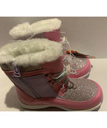 Wonder Nation Girls Lace-up-star insulated Snow Boots Toddler Girls Size... - $22.20
