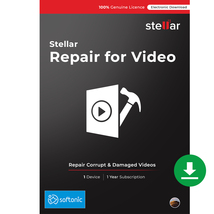 Stellar Repair for Video Software | for Mac | Standard | 1 PC 1 Yr | Dow... - $49.99