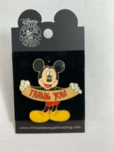 Disney Mickey Mouse Holding Thank You Sign Collectible Trading Pin - $19.79