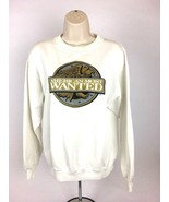 Vintage Mens America's Most Wanted Long Sleeve Sweater Large Retro - $37.83