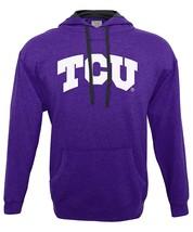 NCAA Tcu Horned Frogs Men's Hood 50/50 Fleece Top, Purple, Medium - $27.95
