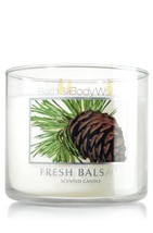 Bath & Body Works Fresh Balsam 3 Wick Scented Candle 14.5 Oz./411 G - $34.99