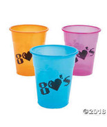 80's Plastic 16oz Cups (25) - $6.36