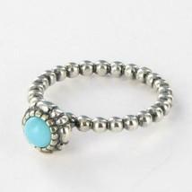 Pandora 190854TQ December Turquoise Birthstone Ring 925 Silver Sz 7.5 NWOT - $47.52