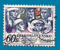 Used Czechoslovakia Postage Stamp (1979) 60 h Czech Workers - Scott #2... - $1.99