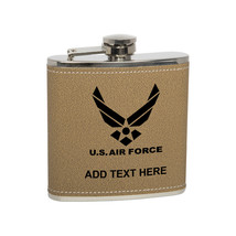 Leather US Air Force Custom Stainless Steel Personalized Flask - €14,87 EUR