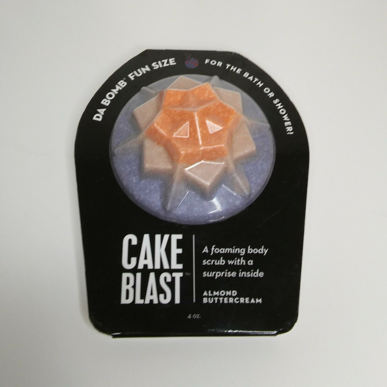 Da Bomb Fun Size Cake Blast Foaming Body Scrub  Almond Buttercream 4 oz - $5.44
