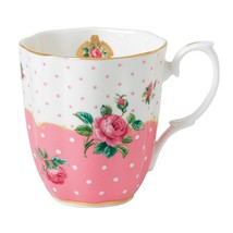 "ROYAL ALBERT ""PINK ROSES"" VINTAGE COFFEE MUG FINE BONE CHINA FLORAL 22K ... - $49.90"