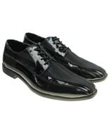 Stacy Adams Mens Black Faux Patent Oxfords Tuxedo Dress Shoes Size 8M - $32.48