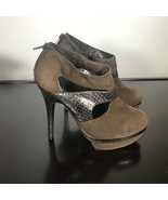 "Marco Santi ""Iris"" Sz 8, Brown Suede Platform High 5"" Heel Pumps. Nice - $16.83"