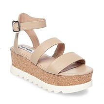 Steve Madden Women's Kirsten Wedge Sandal, Natural Leather, 10 M US - $62.95