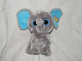 "TY Beanie Boos 9"" Medium Peanut The Elephant Solid Blue Eyes 2012 RETIRE... - $32.66"