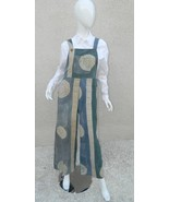 MISSION CANYON Jumpsuit Santa Barbara Wearable Art Blue Beige Overalls S... - $65.19
