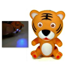 LED TIGER KEYCHAIN with Light and Sound Cute Animal Roaring Noise Key Ch... - $6.95