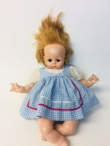 VTG 1965 Madame Alexander Pussycat Doll Gingham Outfit Creepy Prop Hallo... - $29.69
