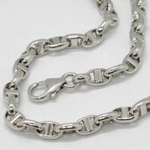 White Gold Bracelet 18k 750 Knitted Stud Made in Italy 21 cm long image 2