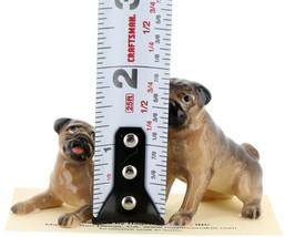 Hagen Renaker Dogs Pug Mama and Baby Tan Ceramic Figurine image 2