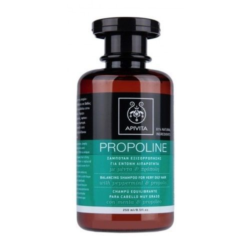 Apivita Propoline Shampoo For Very Oily Hair With Peppermint & Propolis 250ml