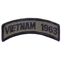 Vietnam 1963 Od Subdued Shoulder Rocker Tab Embroidered Military Patch - $13.53