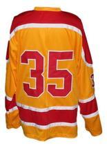 Custom Name # Philadelphia Blazers Retro Hockey Jersey New Yellow Any Size image 2