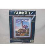 "Neat 14"" X 18"" Sunset Crewel Kit Coastal Retreat Sandy Bodine - $33.72"