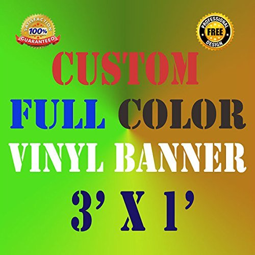 3'x1' Custom Vinyl Banner Custom Banner Vinyl Banner Retail Party School Banner